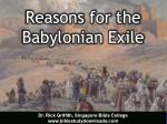 reasons for the babylonian exile