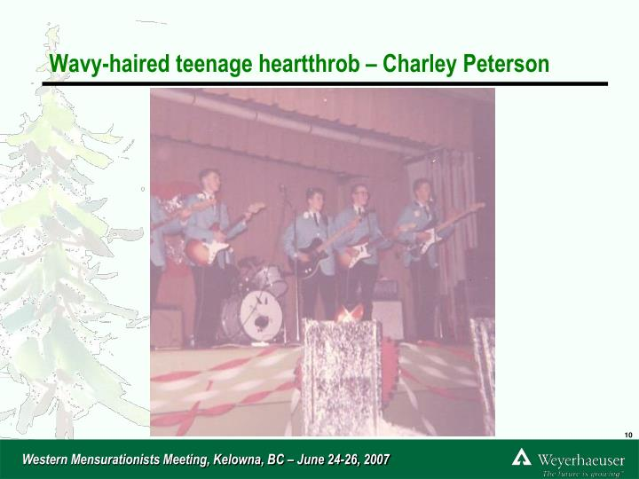 Wavy-haired teenage heartthrob – Charley Peterson