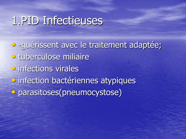 1.PID Infectieuses