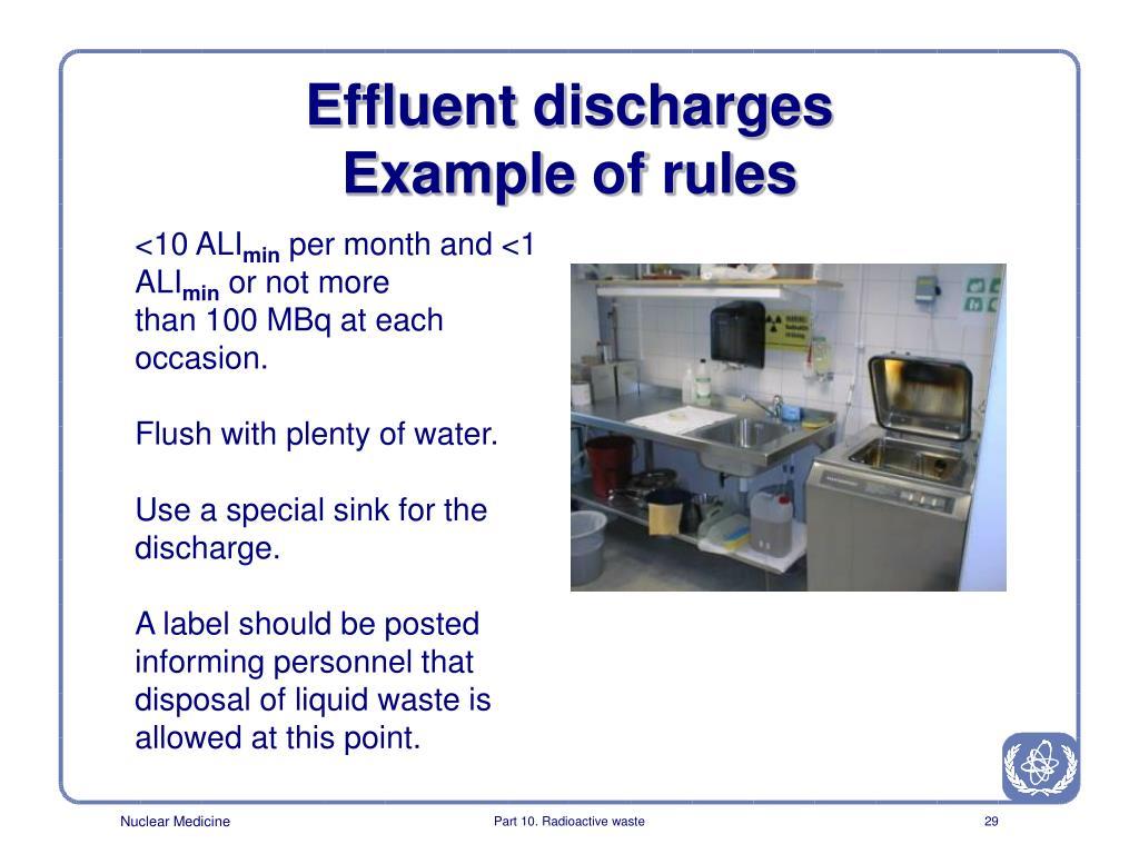 Effluent discharges