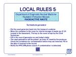 local rules 5