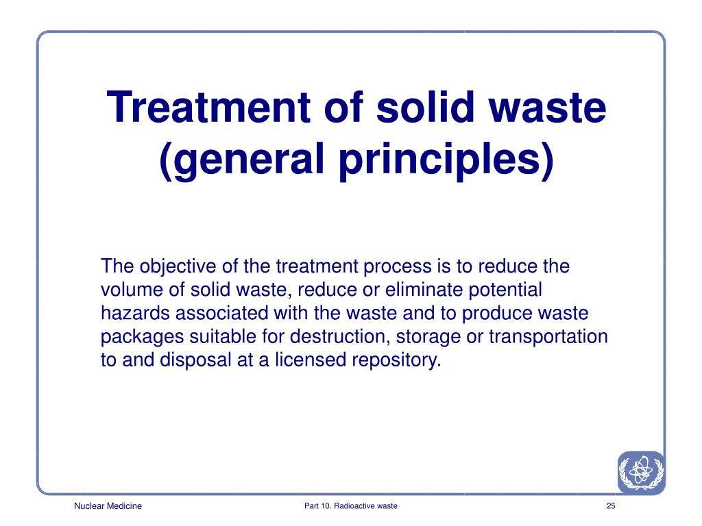 Treatment of solid waste