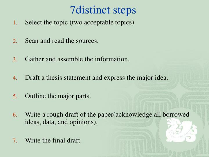 7distinct steps