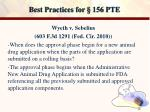 best practices for 156 pte14