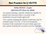 best practices for 156 pte15