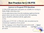 best practices for 156 pte19