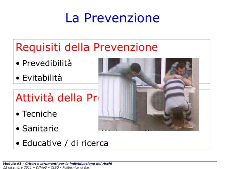 Requisiti della Prevenzione