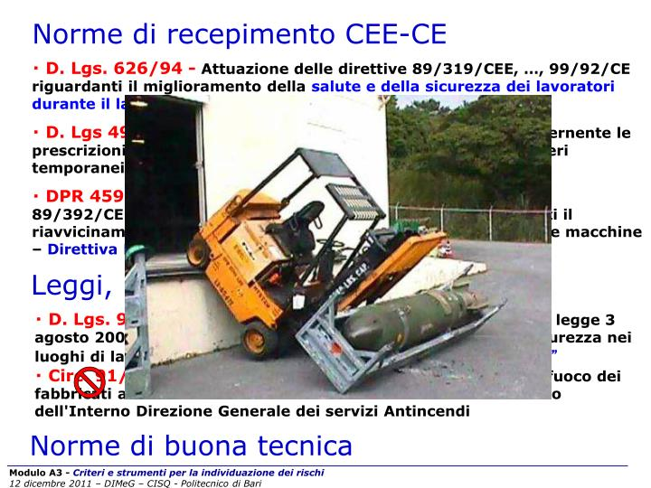 Norme di recepimento CEE-CE