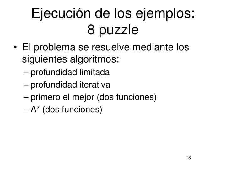 Ejecución de los ejemplos: