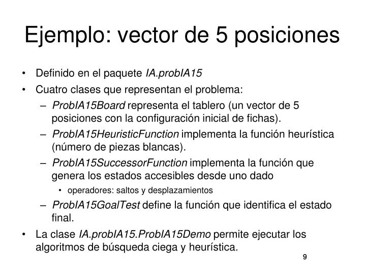 Ejemplo: vector de 5 posiciones