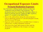 occupational exposure limits14
