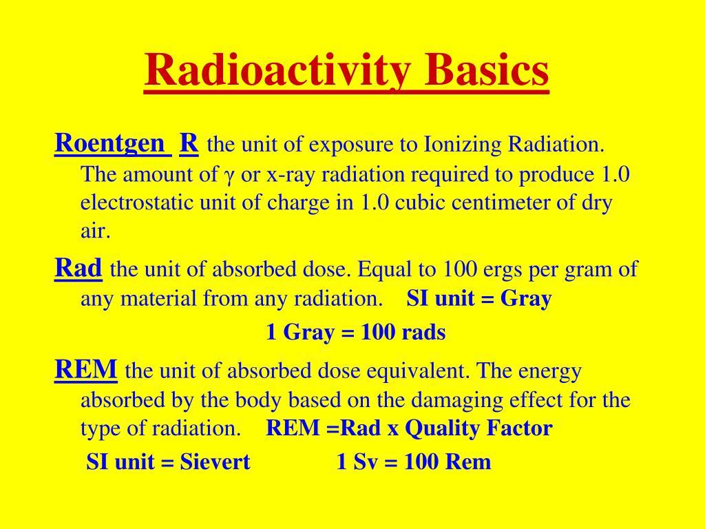 Radioactivity Basics