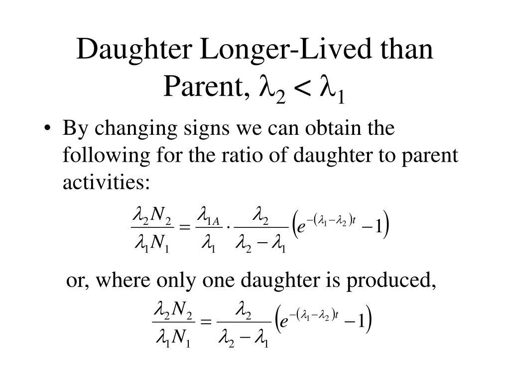 Daughter Longer-Lived than Parent,