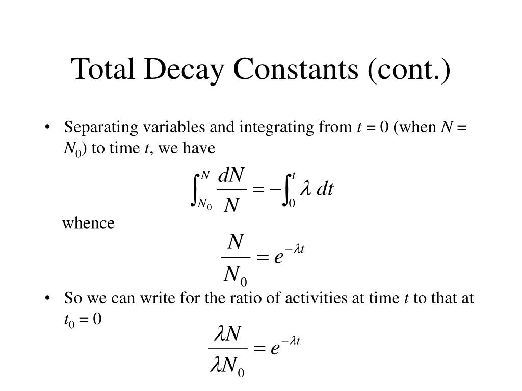 Total Decay Constants (cont.)