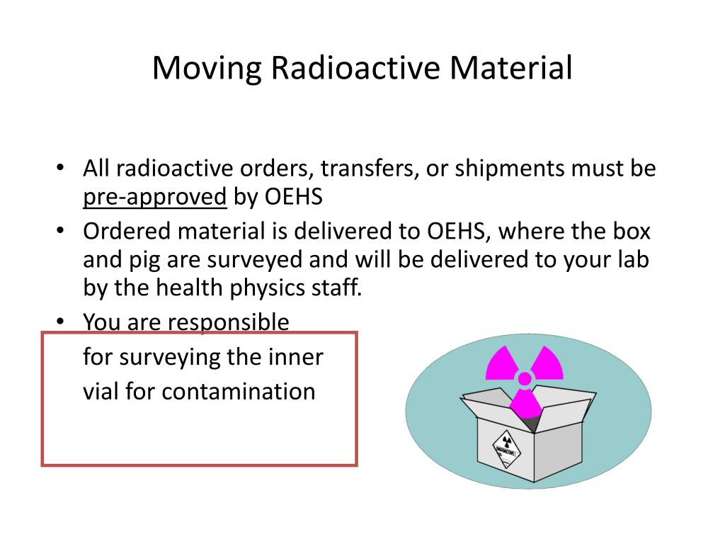 Moving Radioactive Material