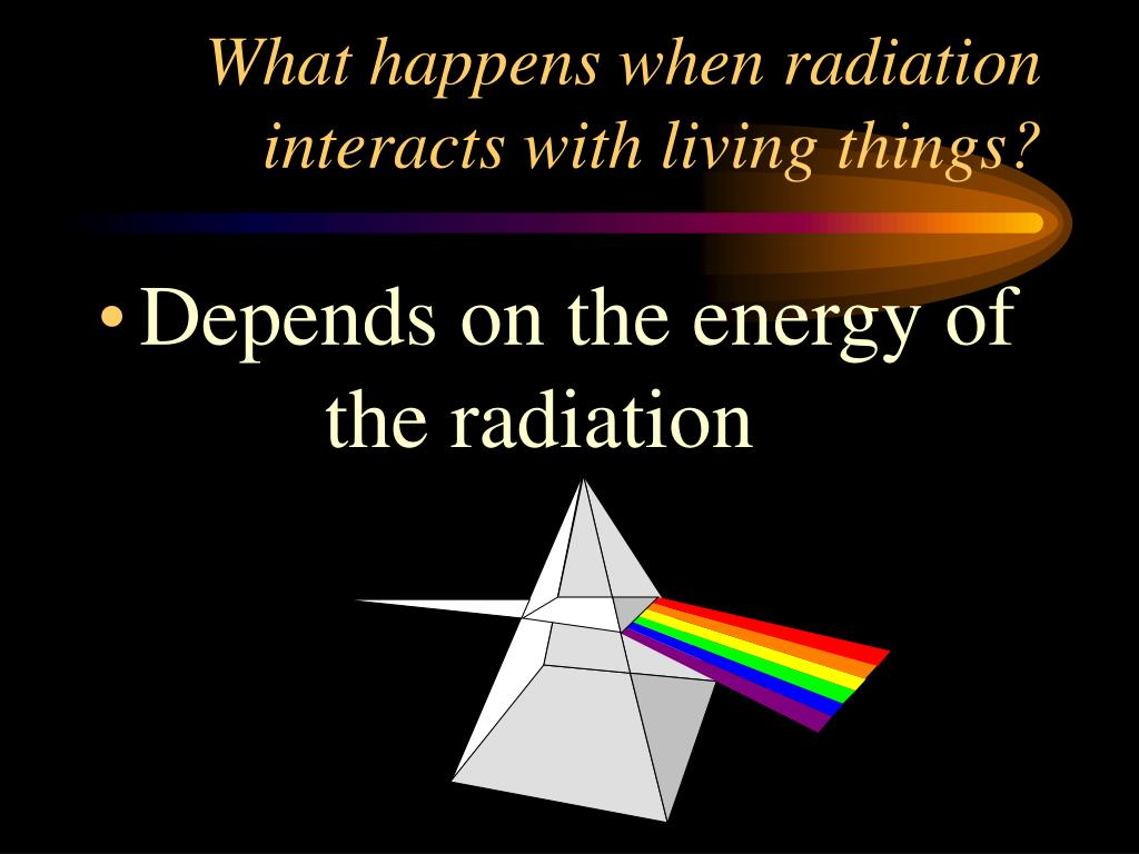 What happens when radiation interacts with living things?