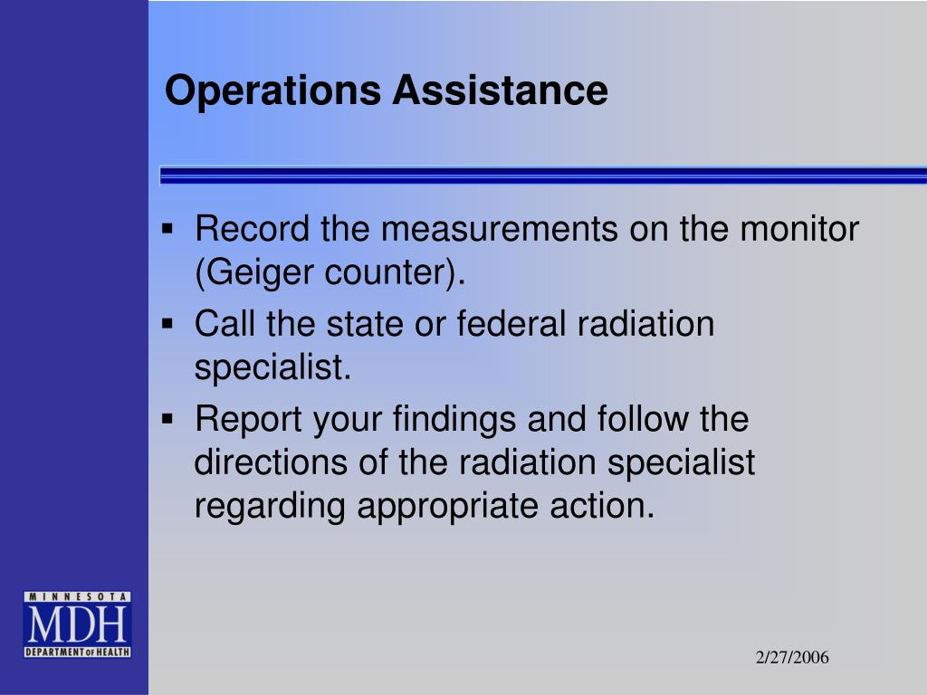 Operations Assistance