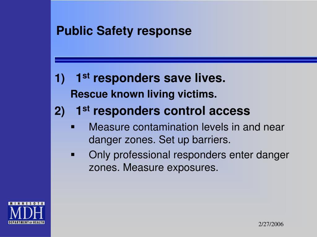 Public Safety response