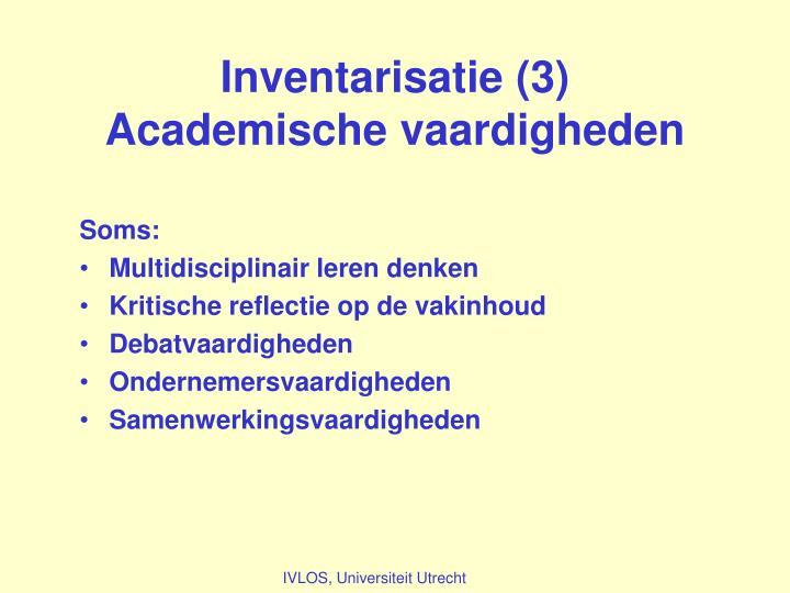 Inventarisatie (3)