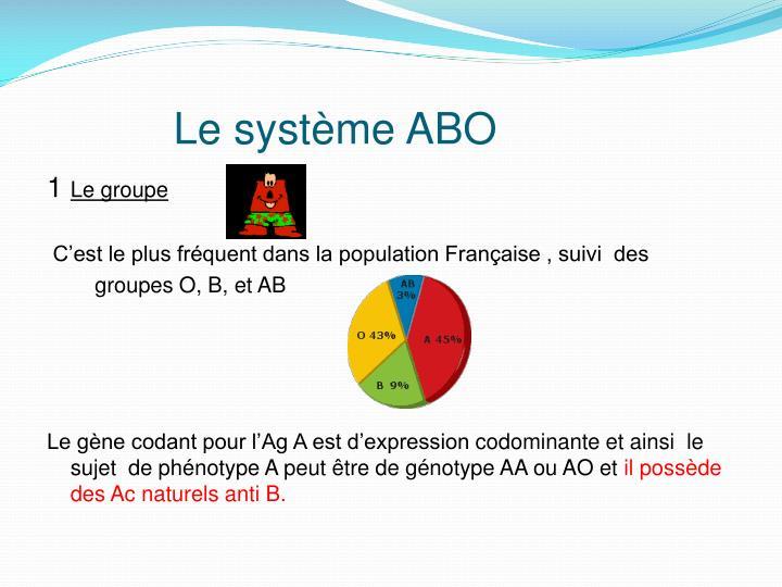 Le système ABO