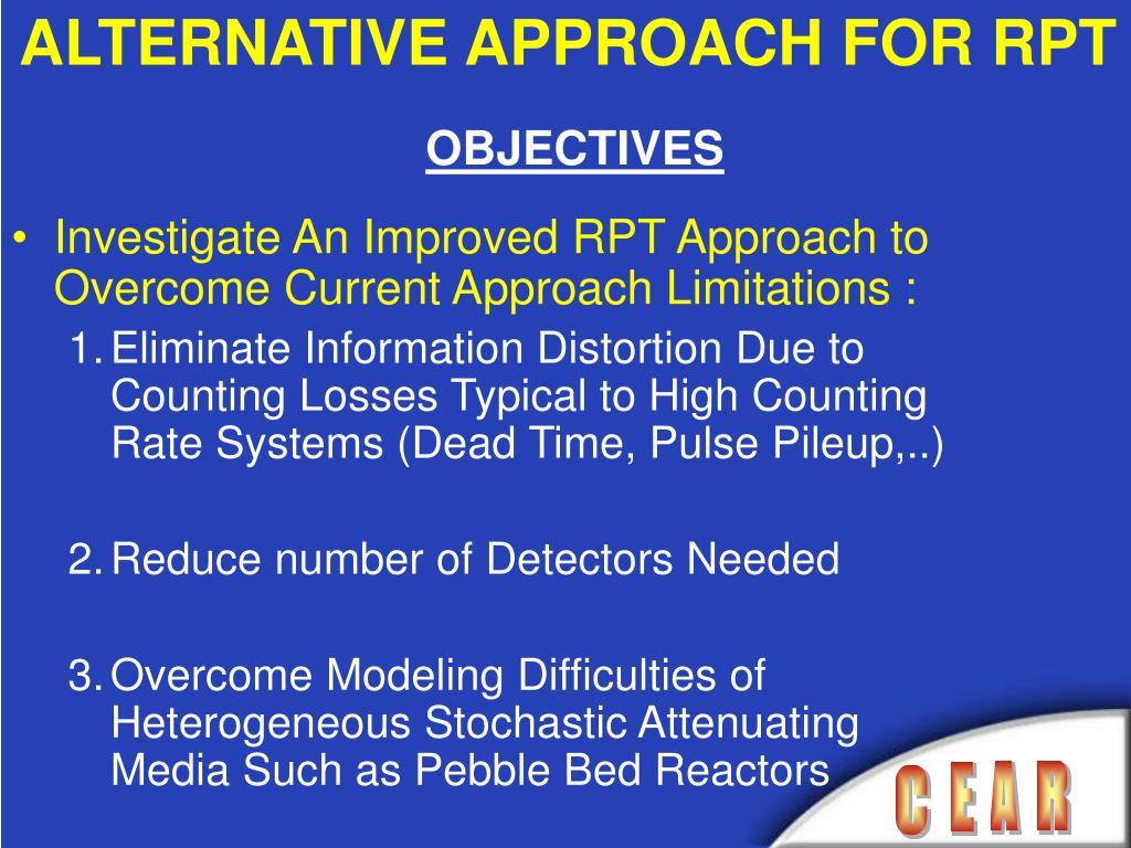 ALTERNATIVE APPROACH FOR RPT