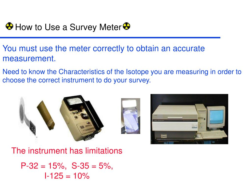 How to Use a Survey Meter