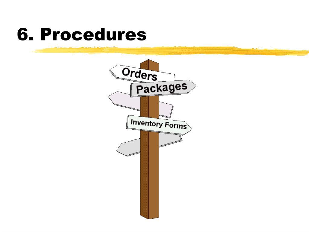 6. Procedures