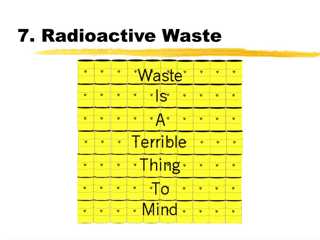 7. Radioactive Waste