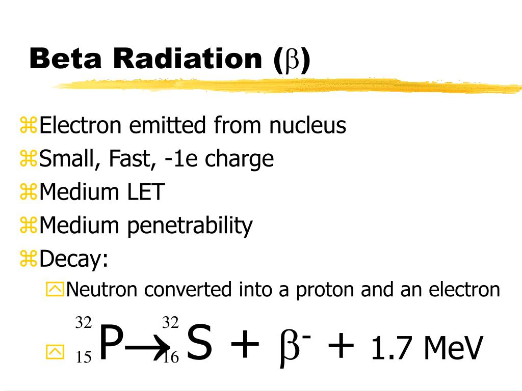 Beta Radiation (