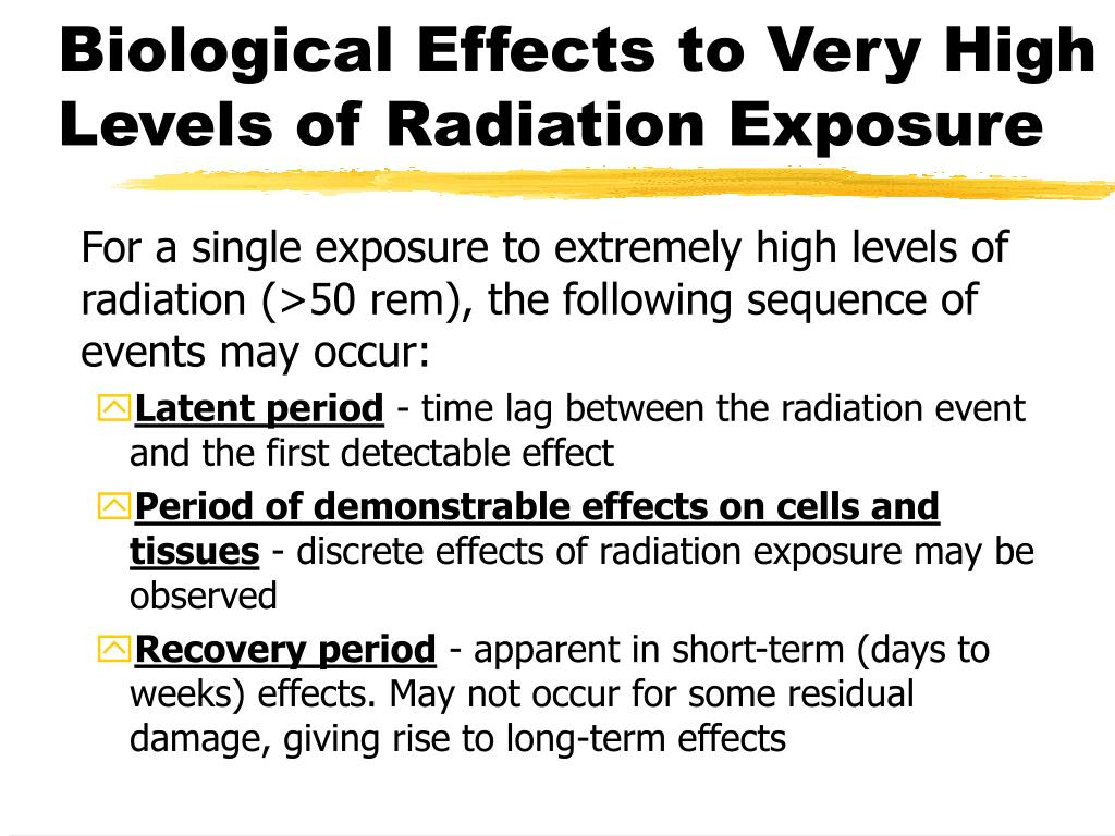 Biological Effects to Very High Levels of Radiation Exposure