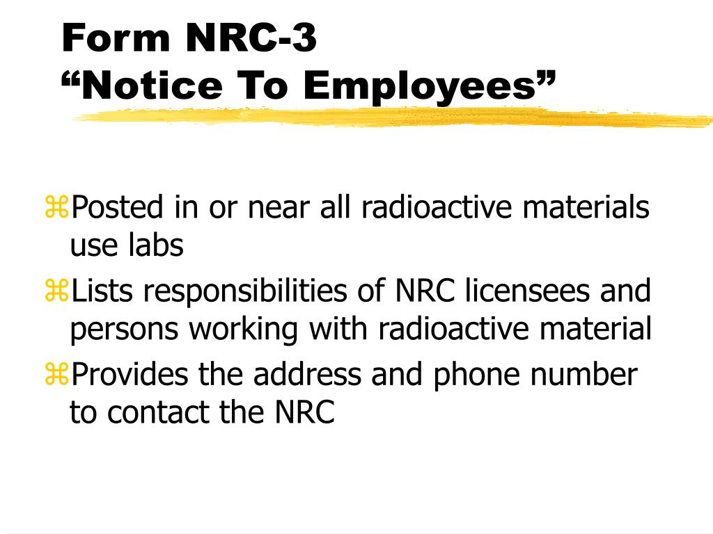 Form NRC-3