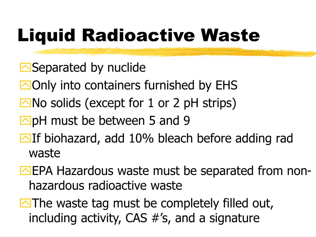 Liquid Radioactive Waste