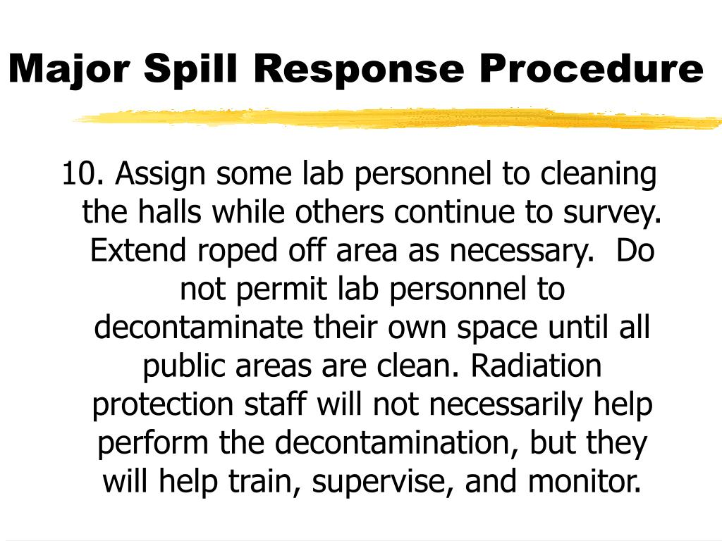 Major Spill Response Procedure
