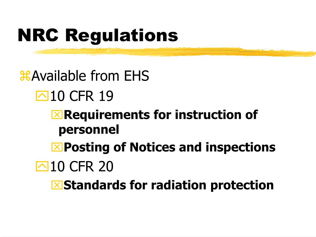 NRC Regulations