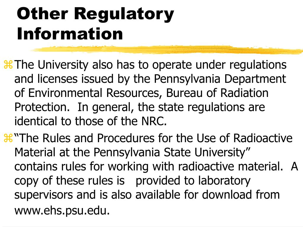 Other Regulatory Information