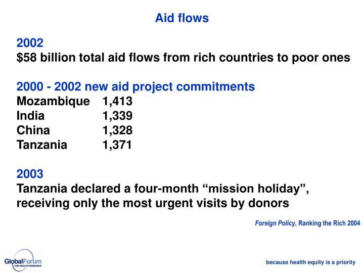 Aid flows