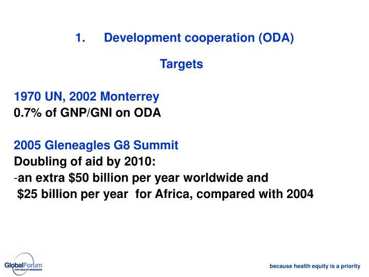1.Development cooperation (ODA)