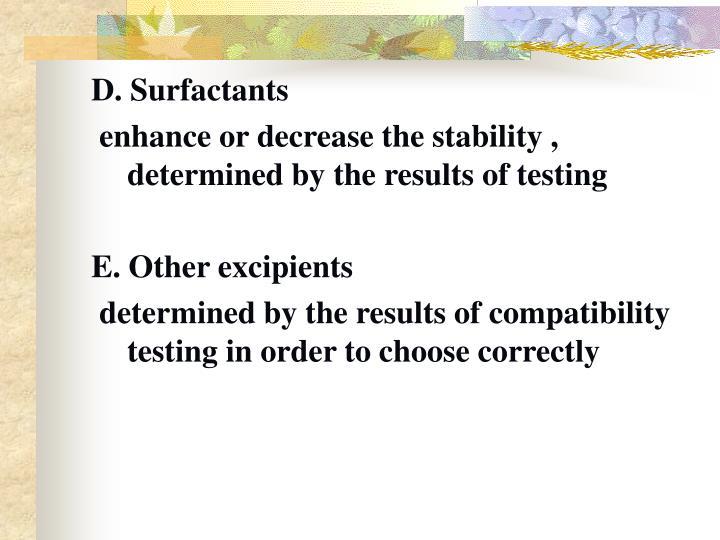 D. Surfactants