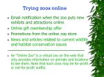 trying zoos online