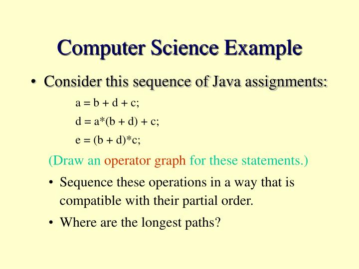 Computer Science Example