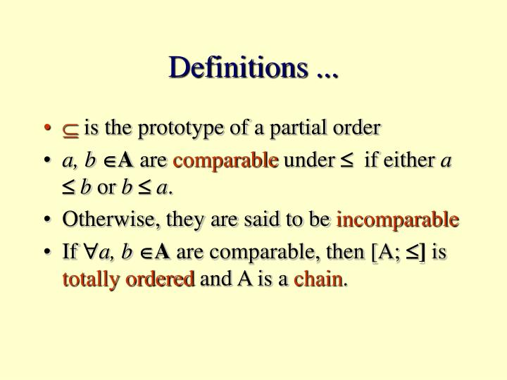 Definitions ...