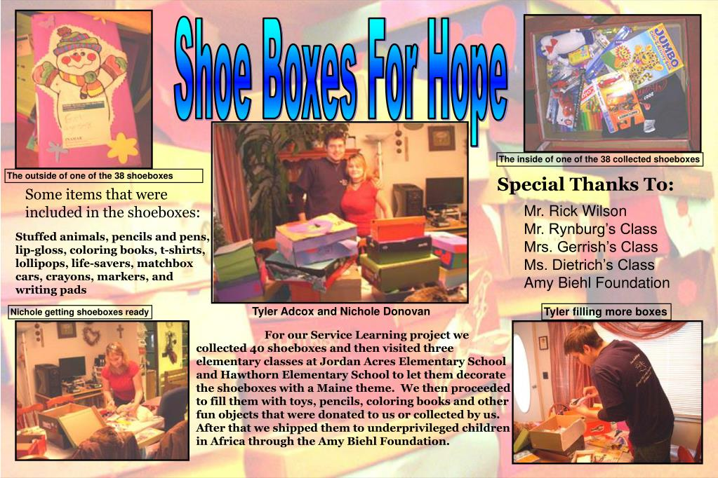 Shoe Boxes For Hope