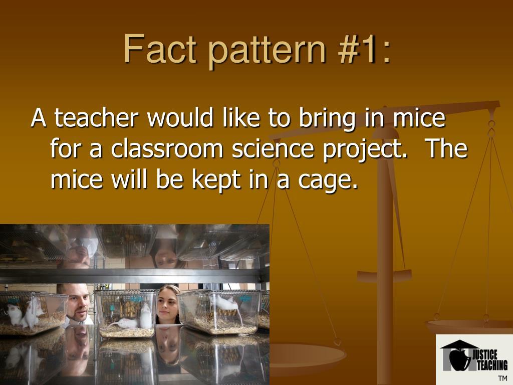 Fact pattern #1: