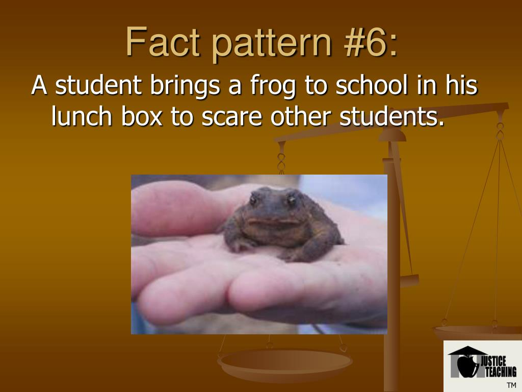Fact pattern #6: