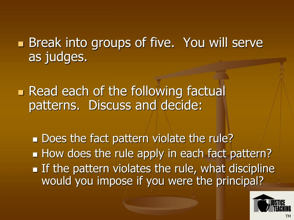 Break into groups of five.  You will serve as judges.