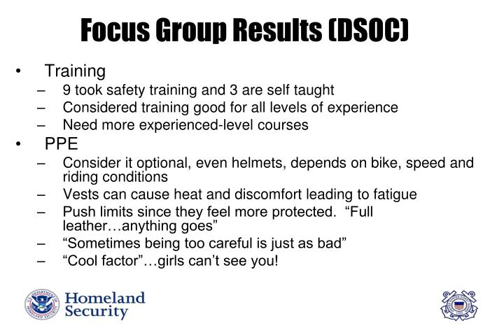 Focus Group Results (DSOC)