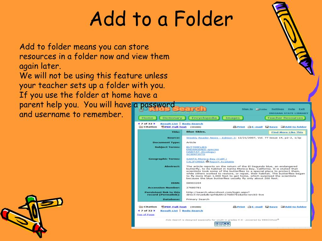 Add to a Folder
