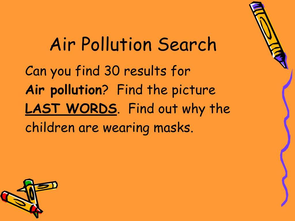 Air Pollution Search