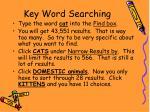 key word searching