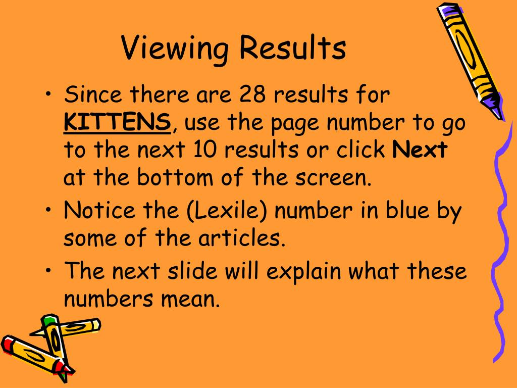Viewing Results